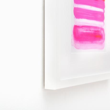 Irvine Slim Thin White Modern Custom Frame | Framebridge