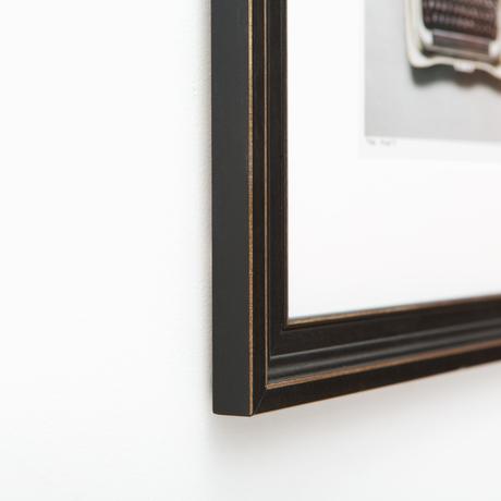 Augusta Distressed Black Wooden Custom Frame | Framebridge