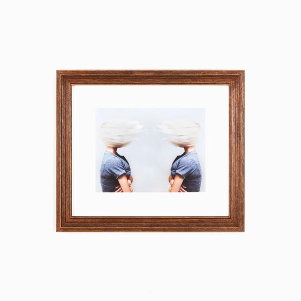 Tahoe Rustic Warm Wood Custom Frame | Framebridge