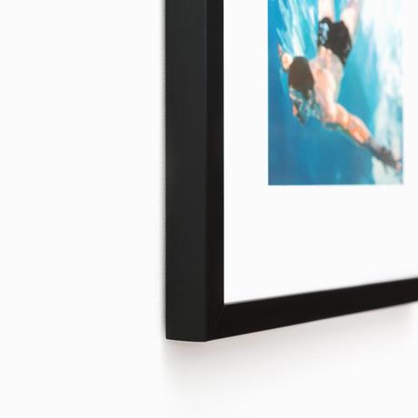 Mercer Slim Thin Black Modern Custom Frame | Framebridge