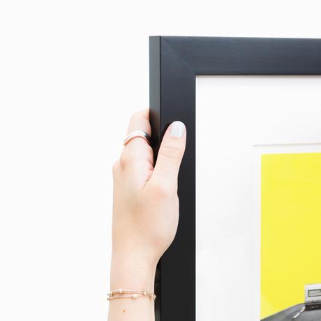mercer black modern custom frame framebridge - Yellow Picture Frames
