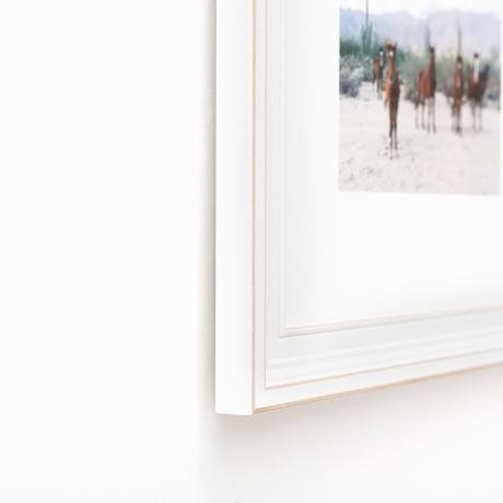 Montauk Distressed White Wooden Custom Frame | Framebridge