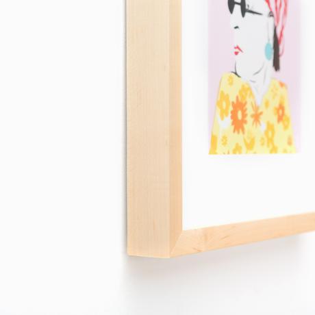 Marin Light Natural Wood Custom Frame | Framebridge