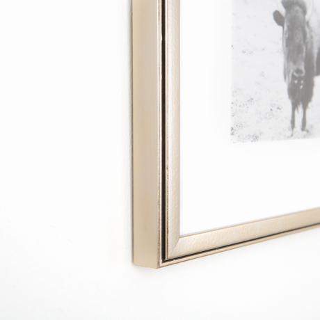 Ventura Pewter Metallic Custom Frame | Framebridge