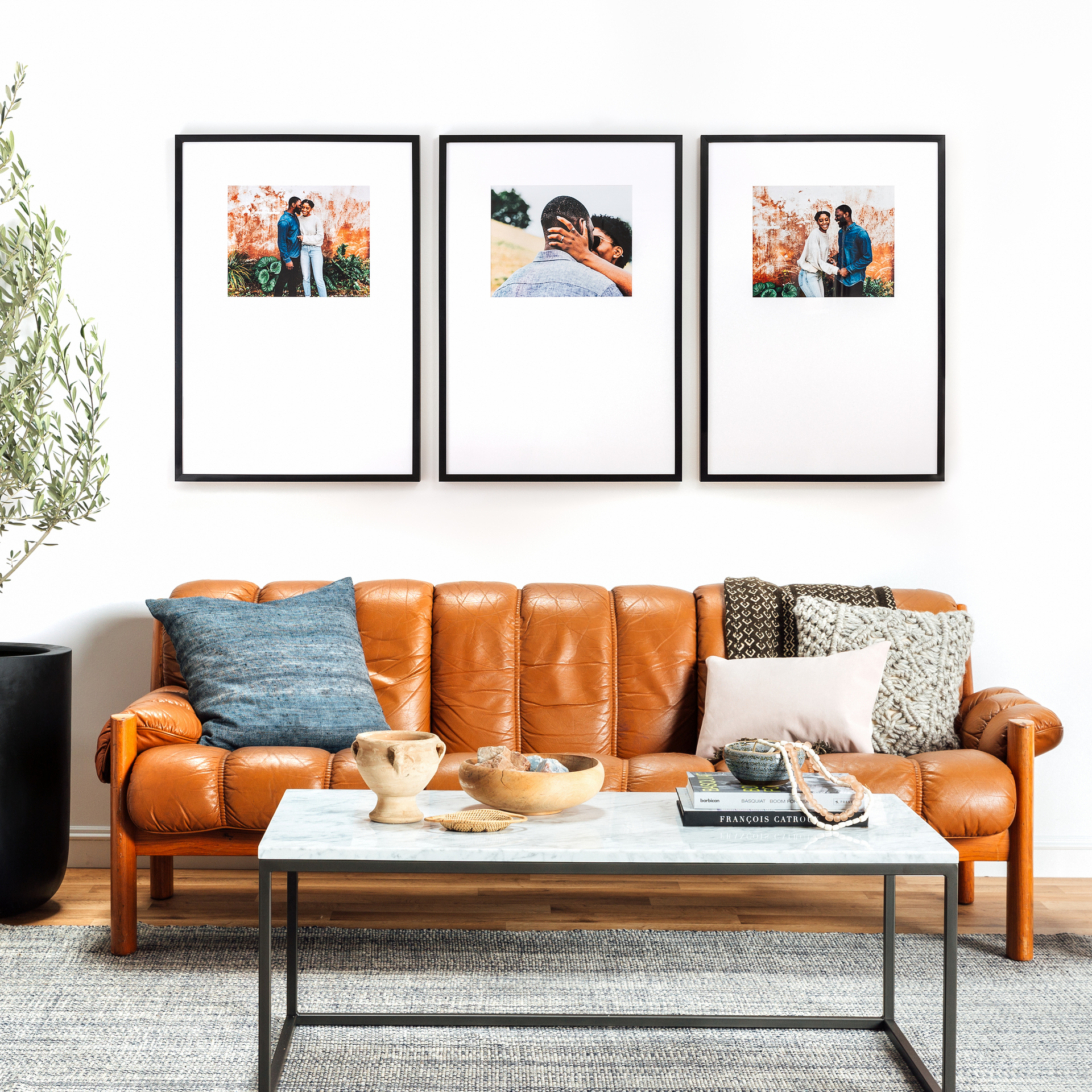 Shop The Triptych | Our Most Popular Gallery Wall from Framebridge on Openhaus