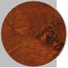 Dark burl wood frame corner