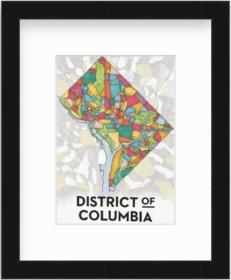 Mercer Slim - Small DC CBC Map Print