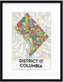 Large DC CBC Print in Mercer Slim