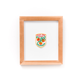 Cherry Gallery frame with Georgia Peach Tree State patch.