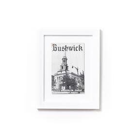 Irvine White Frame with Bushwick print.